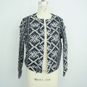 NEW Who What Wear Jacket Aztec Print